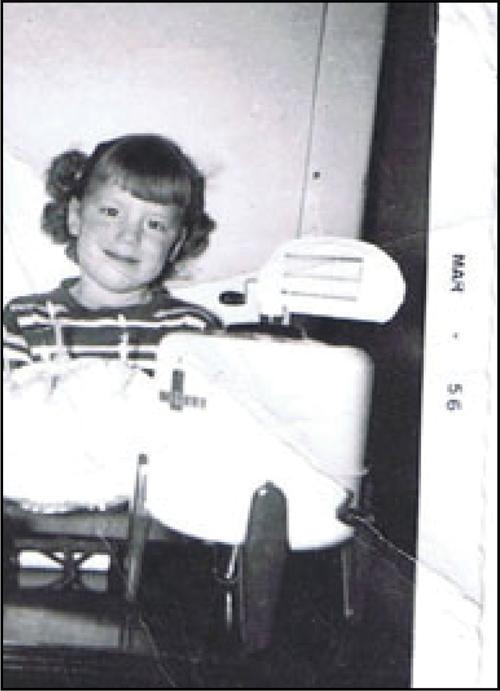 Fern with her first washing machine